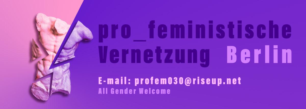 Aufruf zur pro_feministischen Vernetzung in Berlin!